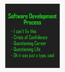 Software Development Humour - Green Design Photographic Print