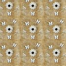 White Daisy grunge flowere  by Delights