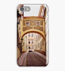 Prague. Sgraffito arch iPhone Case/Skin