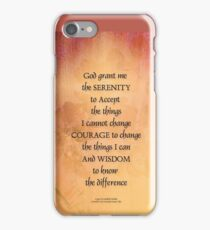 Serenity Prayer Quince Fence One iPhone Case/Skin