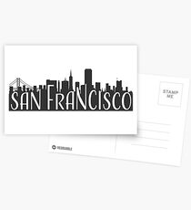skyline silhouette - san francisco Postcards