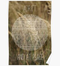 Adrift and at peace Poster