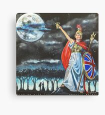 Genesis Fanart Dancing With The Moonlit Knight from Selling England By The Pound by Frank Grabowski Canvas Print