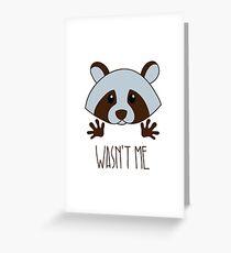 Little raccoon Greeting Card