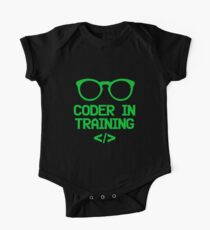 Coder in Training for Future Programmers Short Sleeve Baby One-Piece
