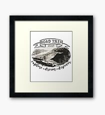Road Trip 2017 Explore Dream Discover Framed Print