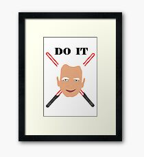Emperor Palpatine - do it Framed Print