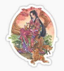 Kitsune Glen Sticker