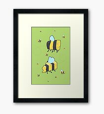 Bumble Cheese (green) Framed Print