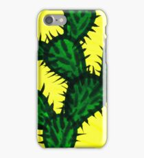 Chinese brush painting - Opuntia cactus. iPhone Case/Skin