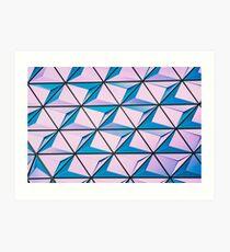 Geometric Triangles (Blue/pink) Art Print