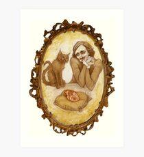 A Little Poe Love Art Print