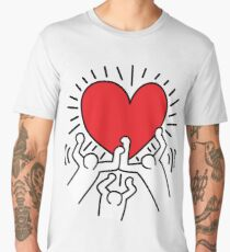 Keith Haring Love Falsettos Men's Premium T-Shirt
