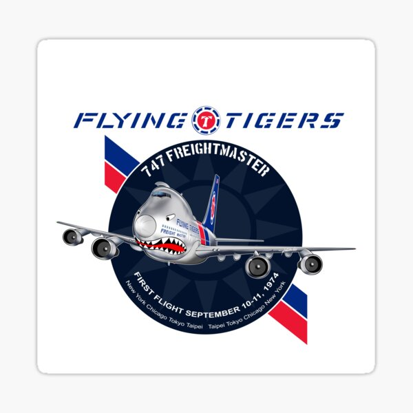 FLYING TIGERS 747 Sticker