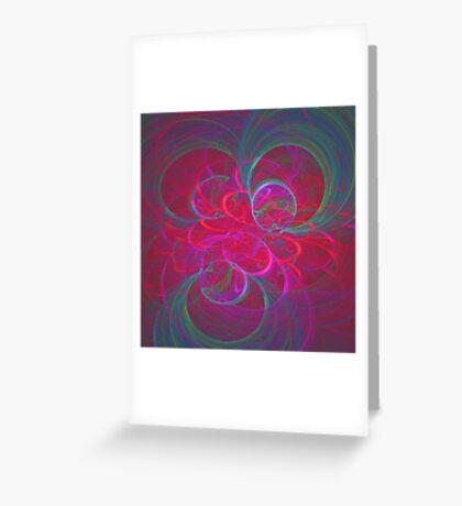 Orbital fractals Greeting Card