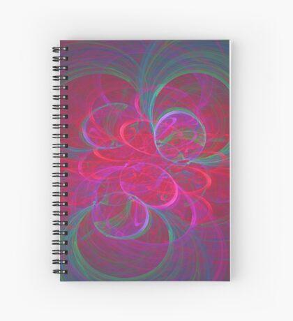 Orbital fractals Spiral Notebook