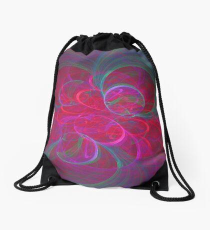 Orbital fractals Drawstring Bag