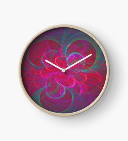 Orbital fractals Clock