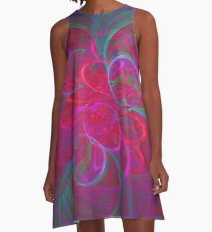 Orbital fractals A-Line Dress