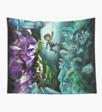 Crystal Cave Boy Wall Tapestry