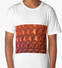Geometric - Rustic Red Long T-Shirt