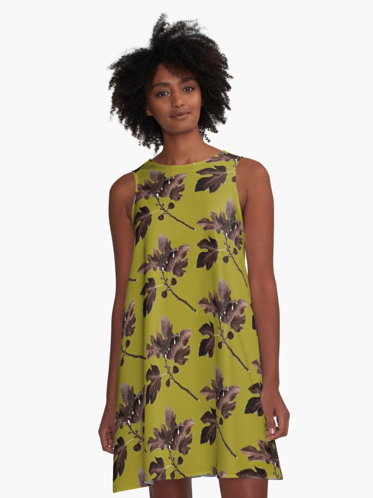 TREE LEAVEs A-Line Dress Front