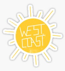 West Coast Sun Sticker