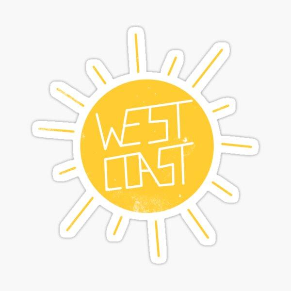 West Coast Sun Sticker