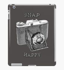 SNAP HAPPY - Vintage Camera Design with Slogan iPad Case/Skin