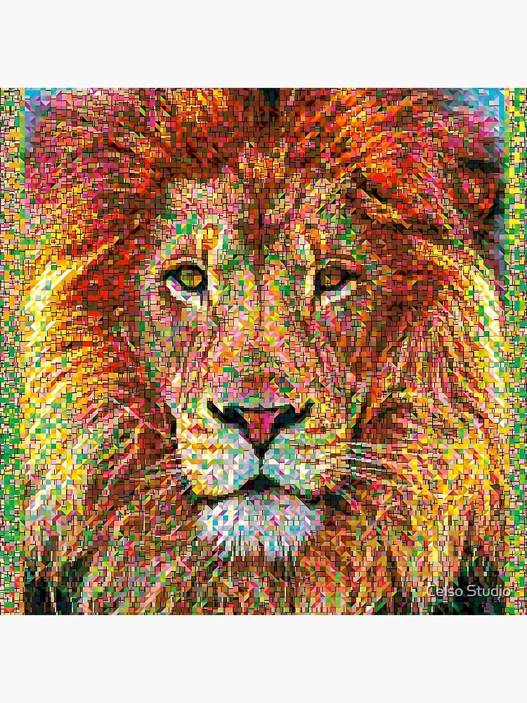 Bunter Löwe von celsomaria