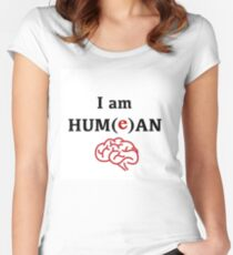 David Hume Philosophy Fanart - I Am Hum(e)an Women's Fitted Scoop T-Shirt