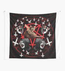satanic cat Wall Tapestry