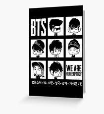 BTS WE ARE BULLETPROOF Chibi Greeting Card