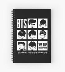 BTS WE ARE BULLETPROOF Chibi Spiral Notebook
