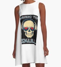 Muzic to skul A-Line Dress
