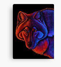 Fire Wolf Canvas Print