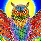 Colorful Rainbow Owl by Rebecca Wang