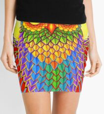 Colorful Rainbow Owl Mini Skirt