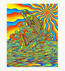 Psychedelic Rainbow Trout Fish Photographic Print