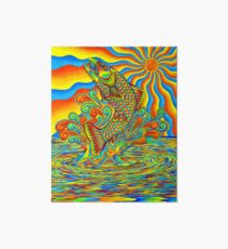 Psychedelic Rainbow Trout Fish Art Board