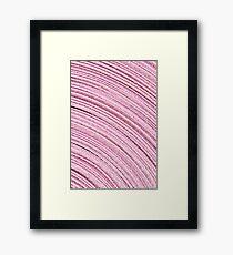 A Roll Of Pink Ribbon - Macro  Framed Print