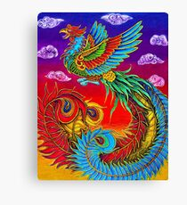 Fenghuang Chinese Phoenix Rainbow Bird Canvas Print