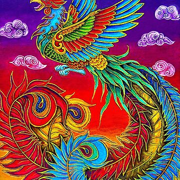 Fenghuang Chinese Phoenix Rainbow Bird by lioncrusher