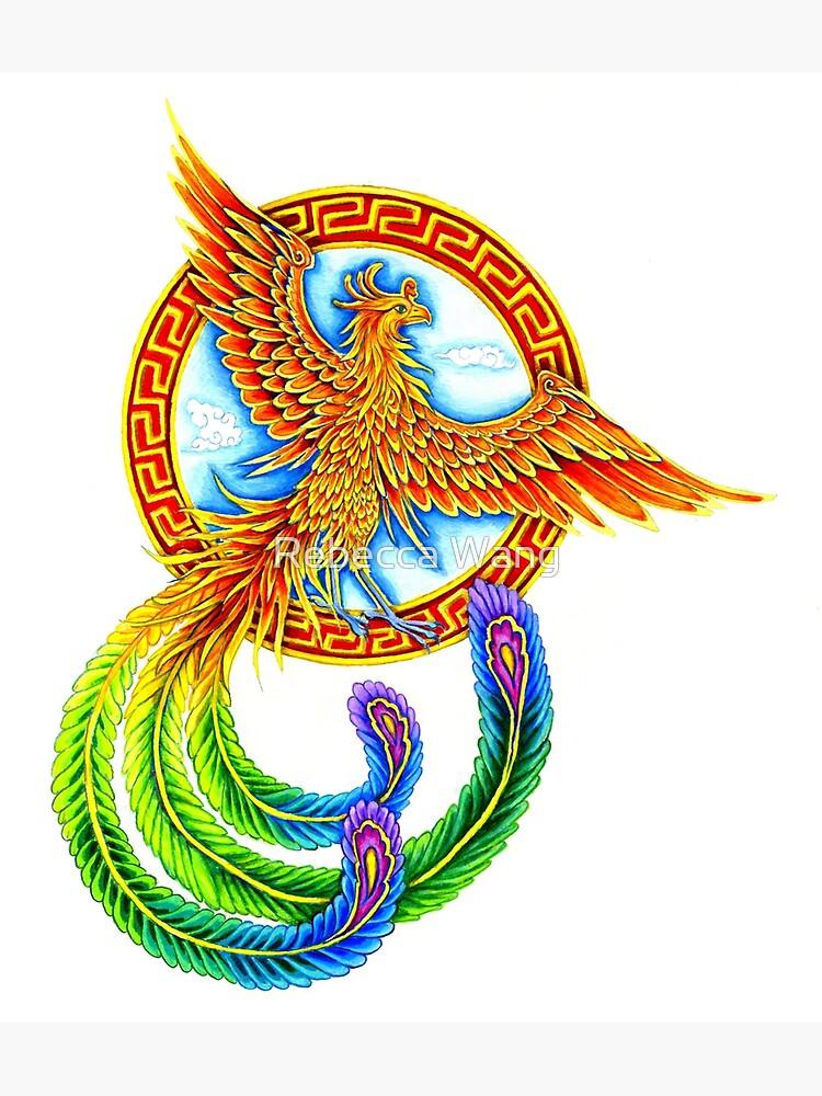 Chinese Vermilion Rainbow Phoenix Bird by lioncrusher