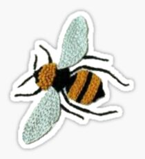 embroidered bee Sticker