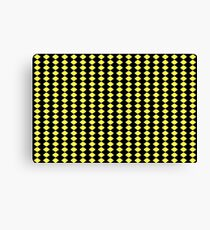 Black & Yellow - Checks Canvas Print