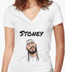 Post Malone   Stoney Women's Fitted V-Neck T-Shirt