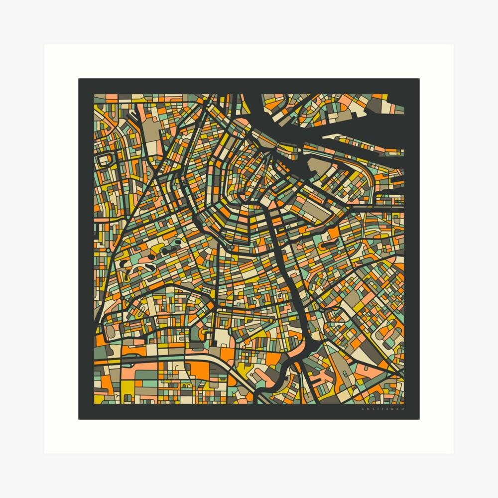 AMSTERDAM MAP Art Print