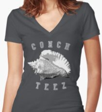 Conch Teez Women's Fitted V-Neck T-Shirt