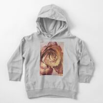 Rose in Time - Flower Lovers - Vintage Dusty Pink Rose Art Toddler Pullover Hoodie